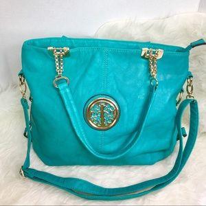 Stephanie Nicole Turquoise Bag.
